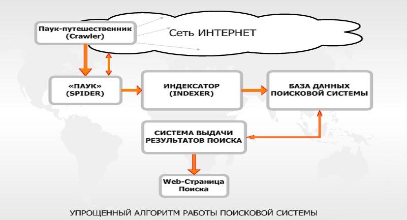 Работа поисковой системы
