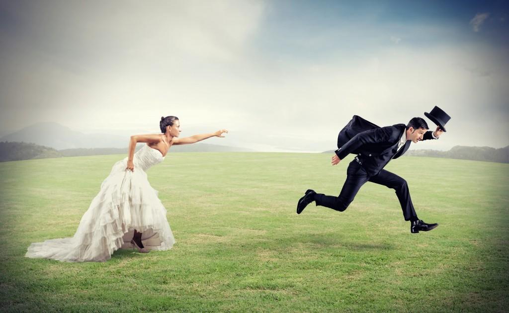 Жених убегает