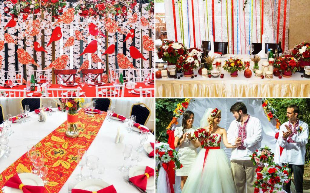 славянская свадьба оформление стола
