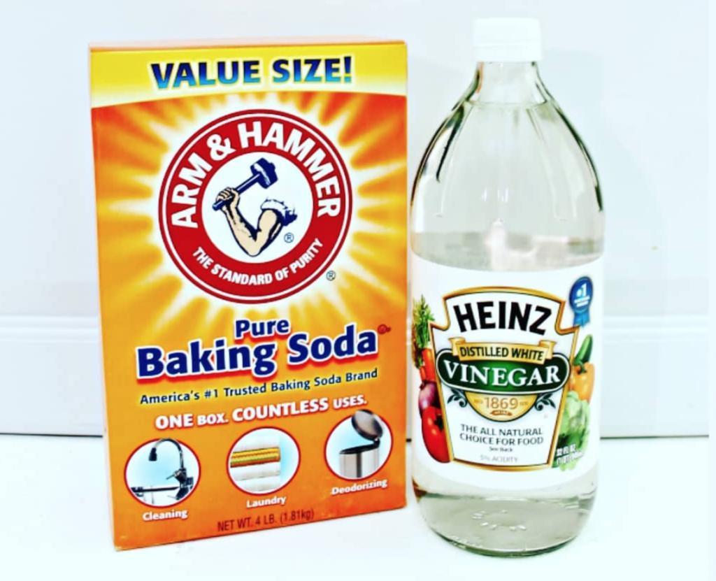 сода и уксус для удаления герметика