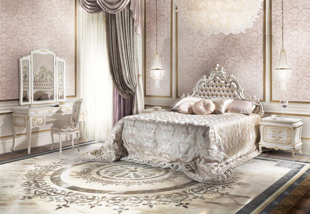 Интерьер спальни барокко