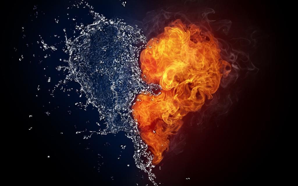 сердце из огня и воды