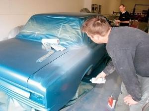 как покрасить машину балончиками