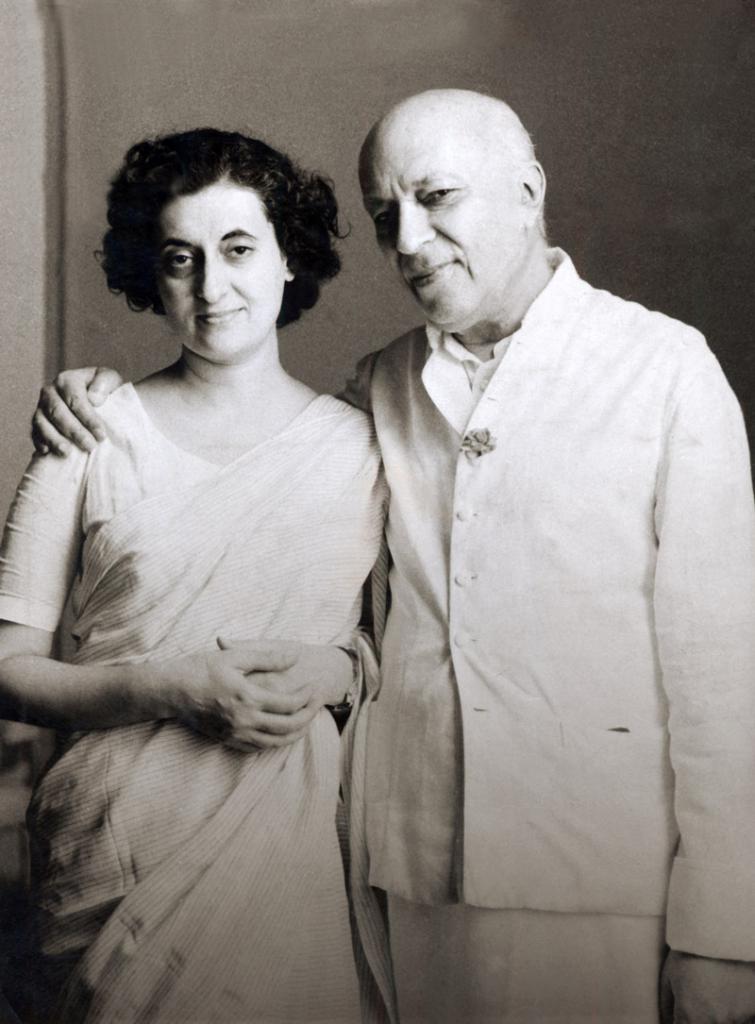 дочь Неру Индира Ганди