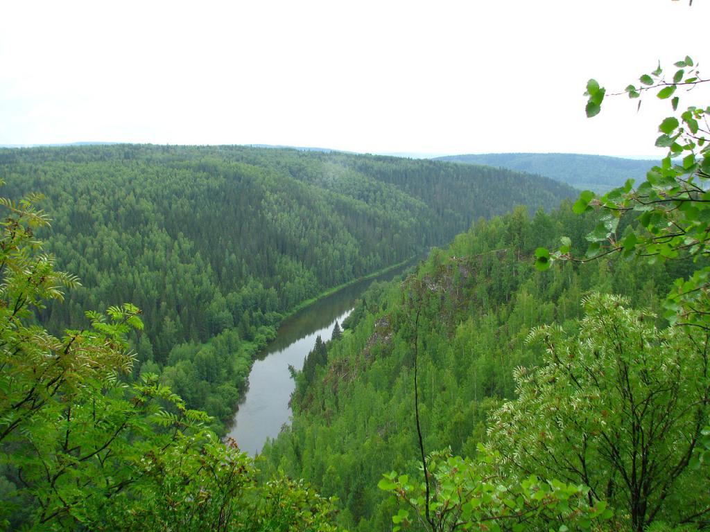 Река Кайва, спокойное течение