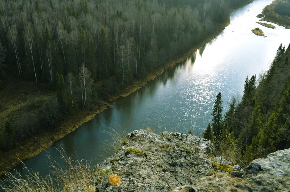 Река Кова, вид со скалы