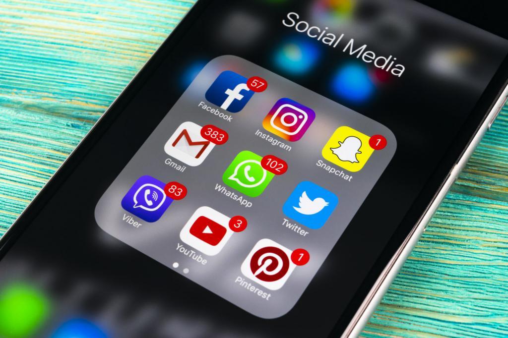 Экран смартфона с иконками приложений