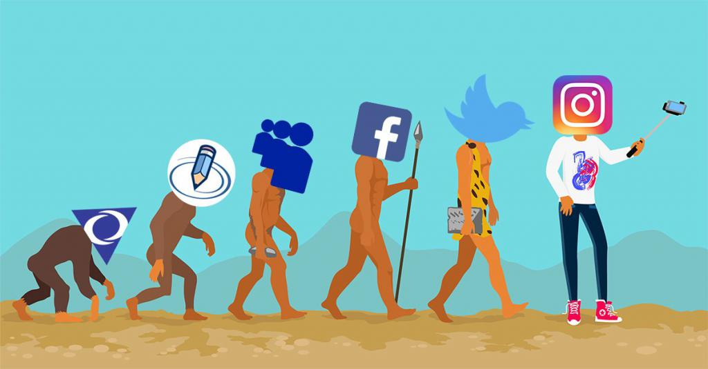 Эволюция социальных медиа на примере эволюции человека