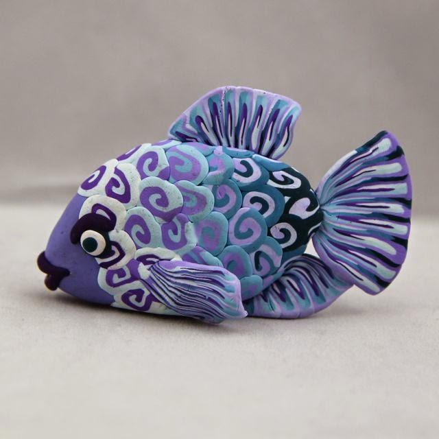 рыба из полимерной глины