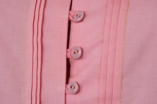 Петли из прямой плоской ткани