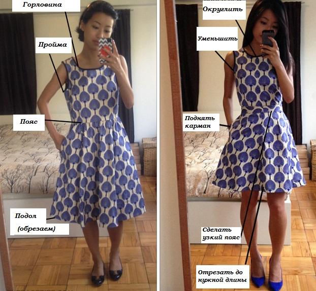 Переделка бабушкиного платья
