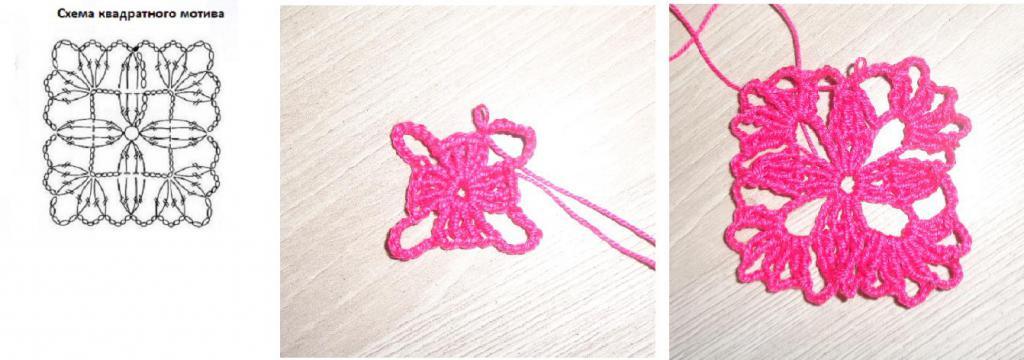 вязание крючком дорожками схемы 3
