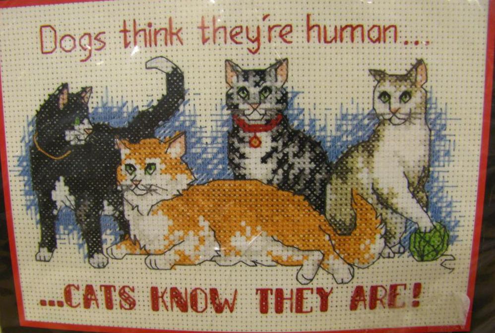 четыре кота вышивка