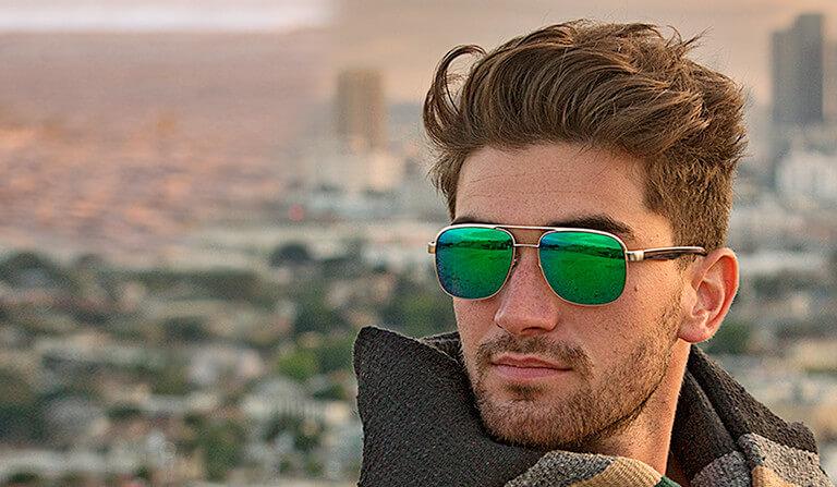 Зеркальные мужские очки