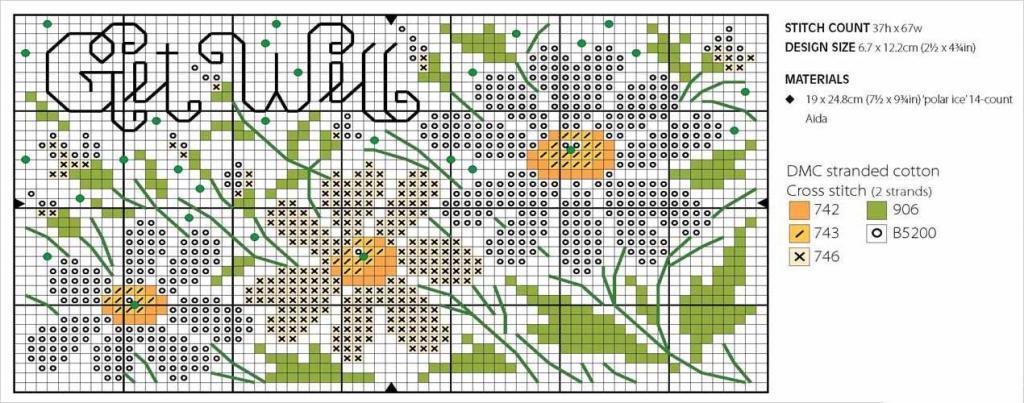 Схемы для вышивки ромашек крестиком