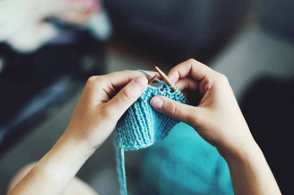 вязание резинки для манжетов