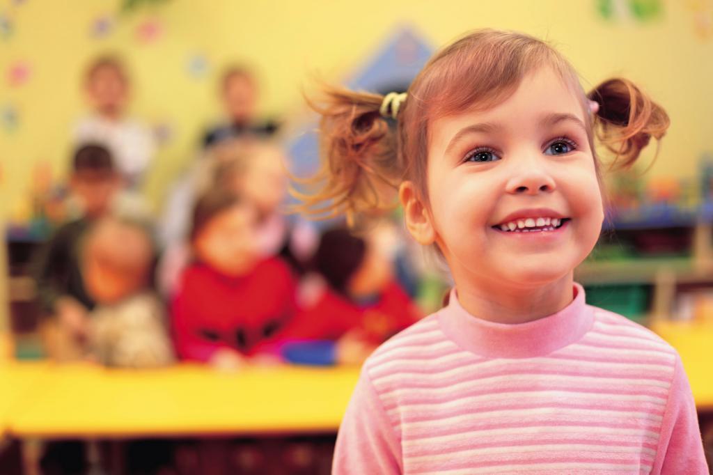 Счастливая воспитанница детского сада
