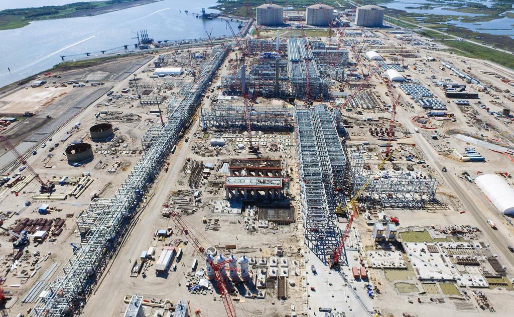 Строительство хранилища в Луизиане