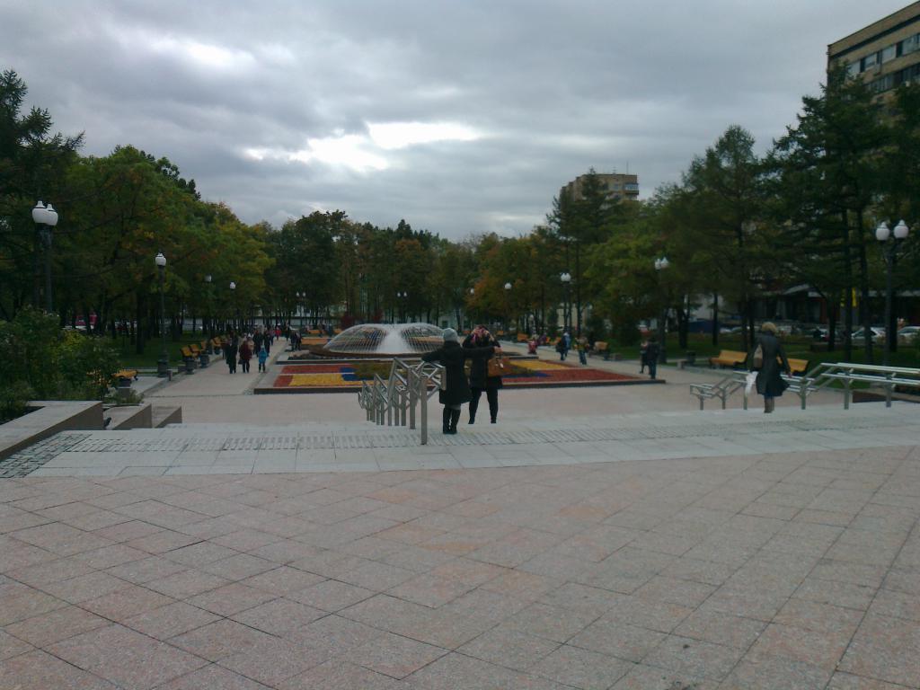 Посетители в парке