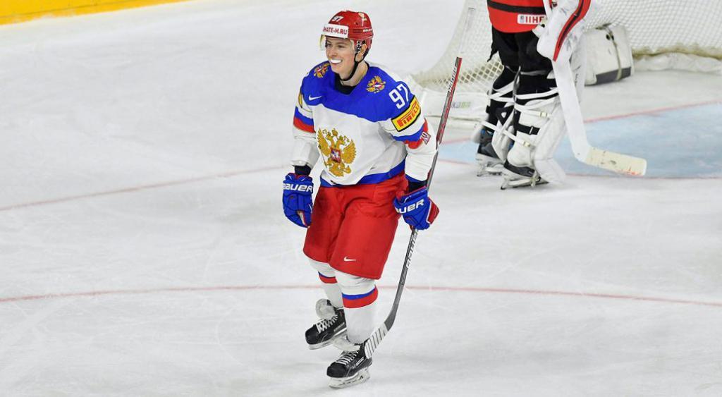 Никита Гусев на льду