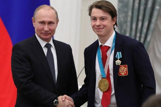 Никита Гусев и Владимир Путин