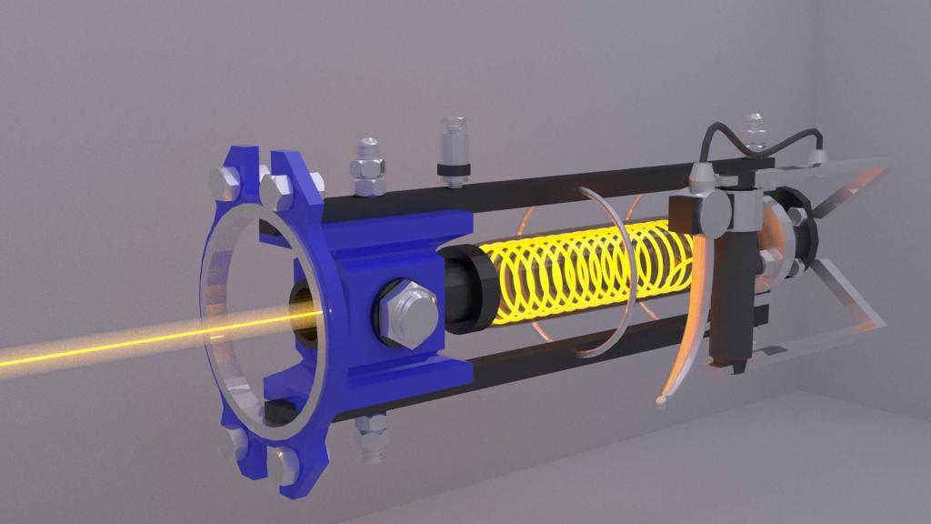 Модель ионной пушки