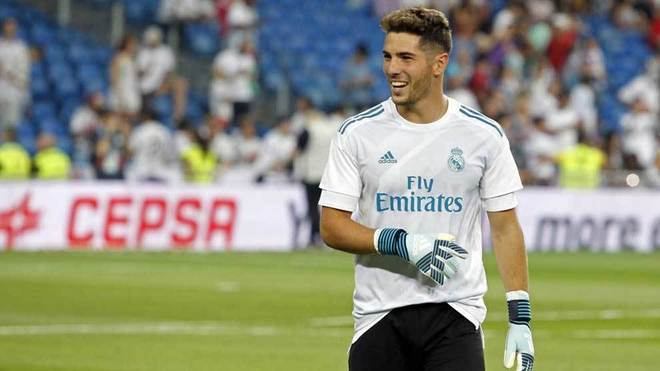 Лука Зидан вратарь клуба Реал Мадрид