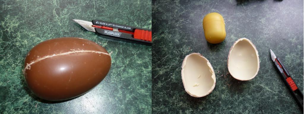 отделить половины яйца