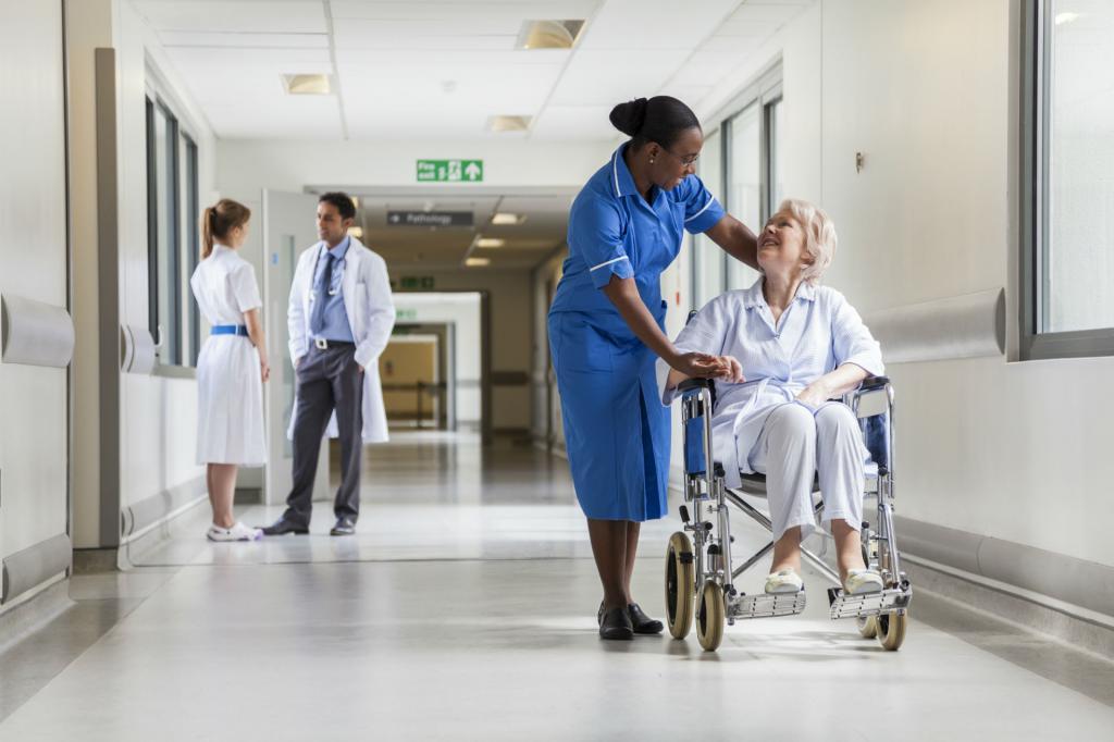 Пенсионер в больнице