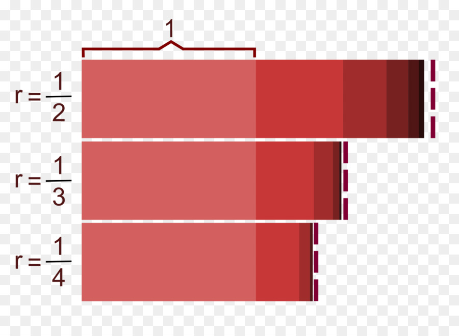 Различные убывающие геометрические прогрессии