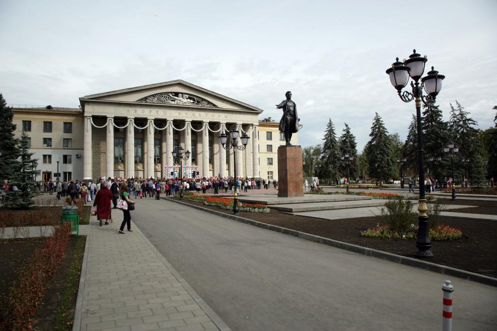 Вид на памятник Кирова