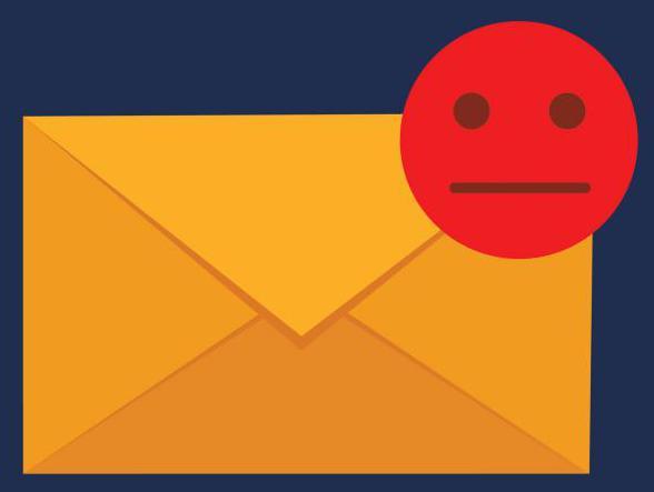 Если email не валидный, вы не можете прочитать отправленные на него сообщения