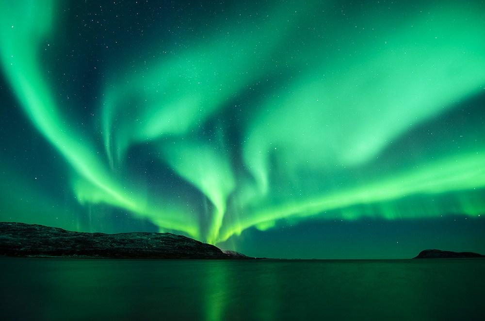 Великолепное северное сияние