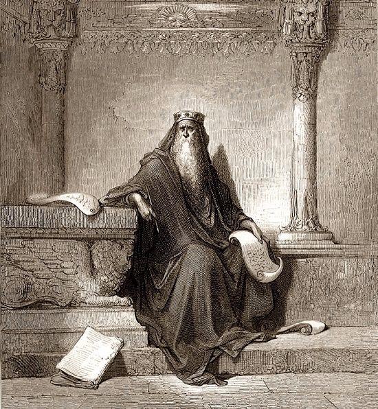 Царь Соломон в преклонном возрасте