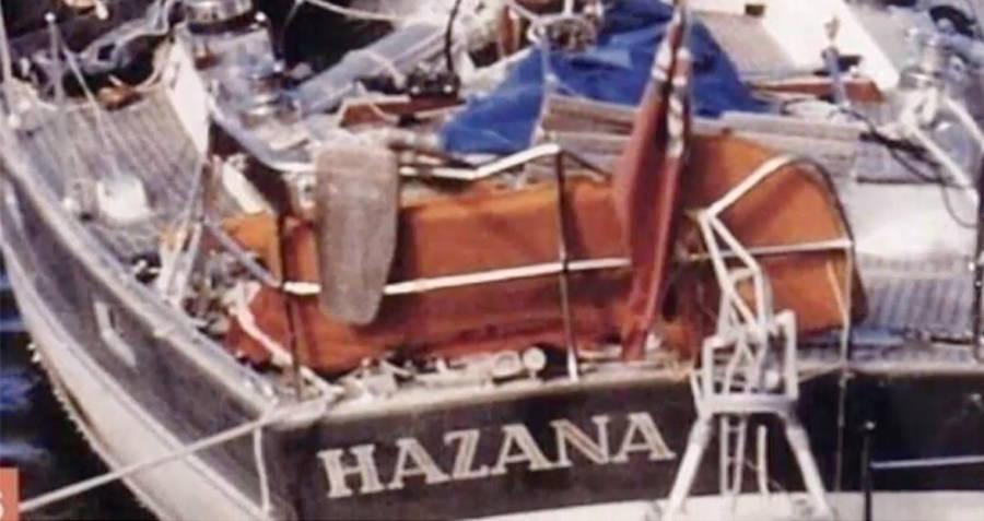 яхта Хазана после кораблекрушения