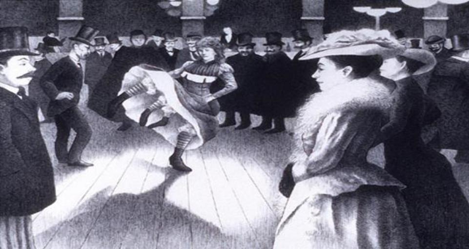 Танцующая Миртл Корбин на афише цирка