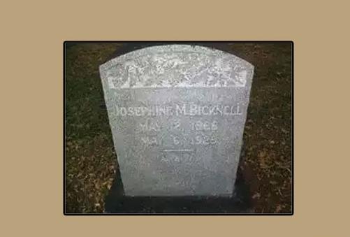 Памятная плитна на могиле Миртл Корбин