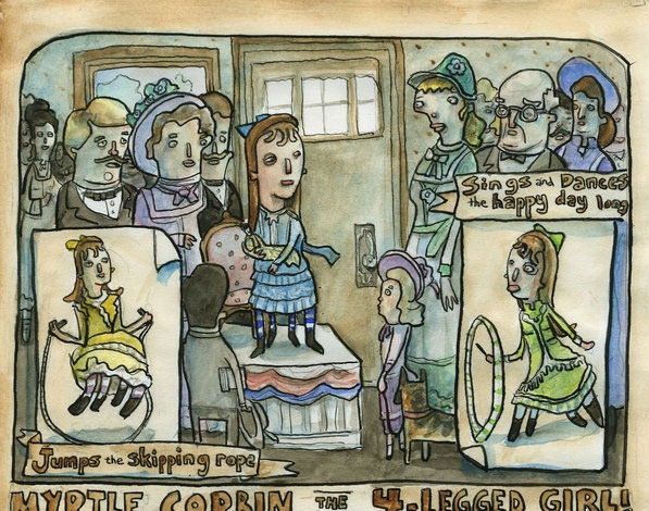 Рисунок посвященные выступлению Миртл Корбин