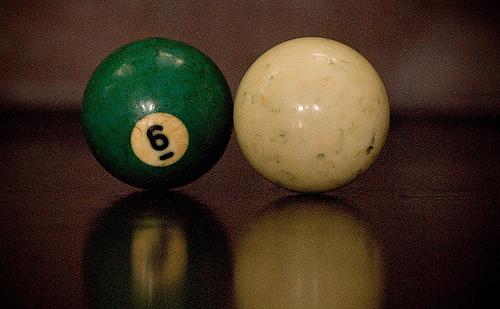 Упругое столкновение двух шаров