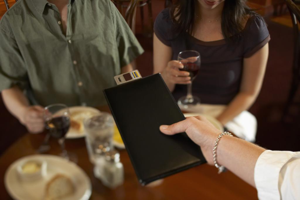 Счет в ресторане