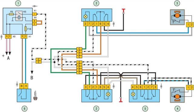 Стеклоподъемники ВАЗ-2114: схема подключения. Распиновка кнопки стеклоподъемника