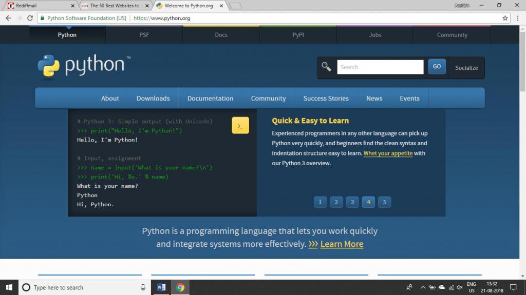 основы алгоритмизации и программирования на языке python