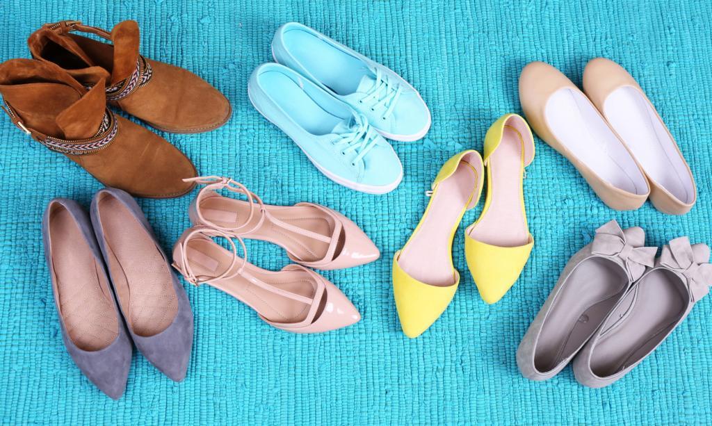 Много пар обуви