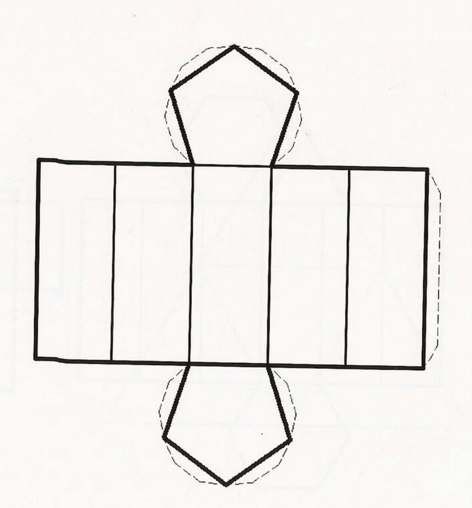 Развертка пятиугольной призмы
