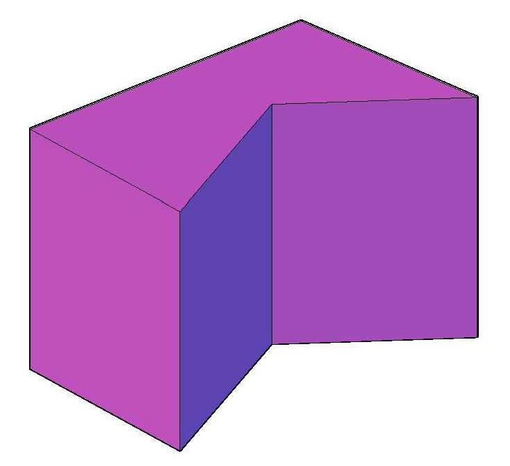 Вогнутая прямая пятиугольная призма