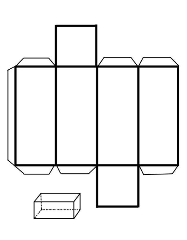 Развертка правильной четырехугольной призмы
