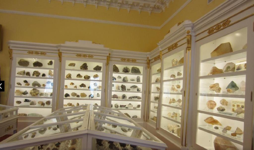 Образцы в горном музее