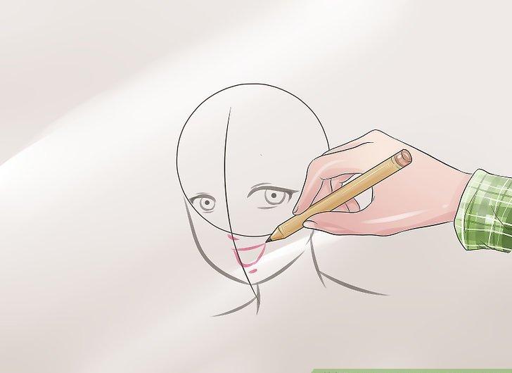 Рисование аниме головы