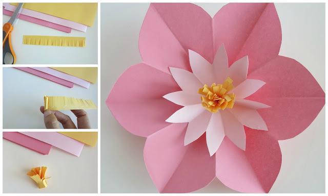 аппликация цветов из бумаги