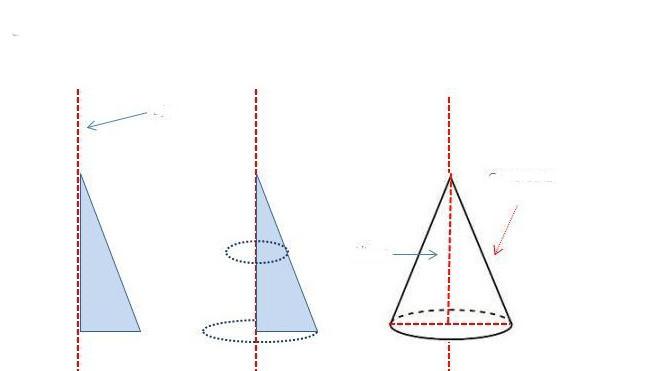 Получение конуса вращением треугольника